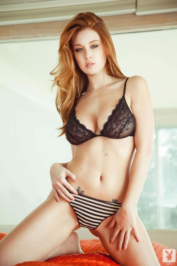 leanna decker redhead glamour babe naked