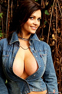 Denise Milani - Wearing Jeans In Canyon