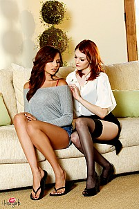 From therapy to lesbian sex with Ariana Marie and Bree Daniels
