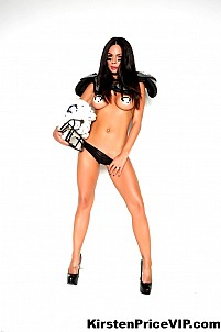 Kirsten Price hot fantasy football shoot