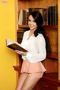 Dillion Harper as sexy bookworm