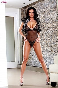 Dylan Ryder stripping black lacy lingerie