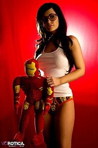 Viorotica posing with Iron Man