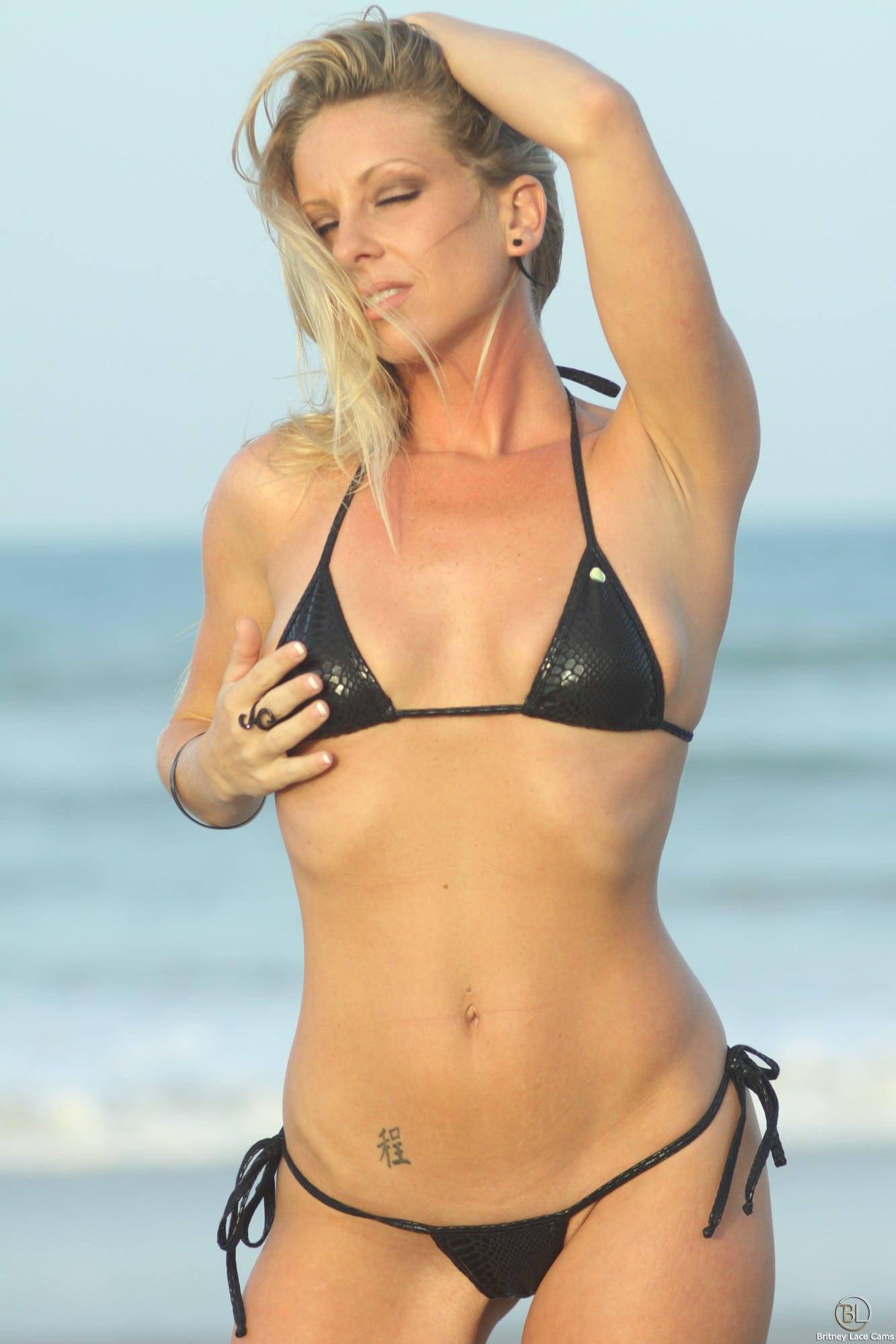 Small tits bikini