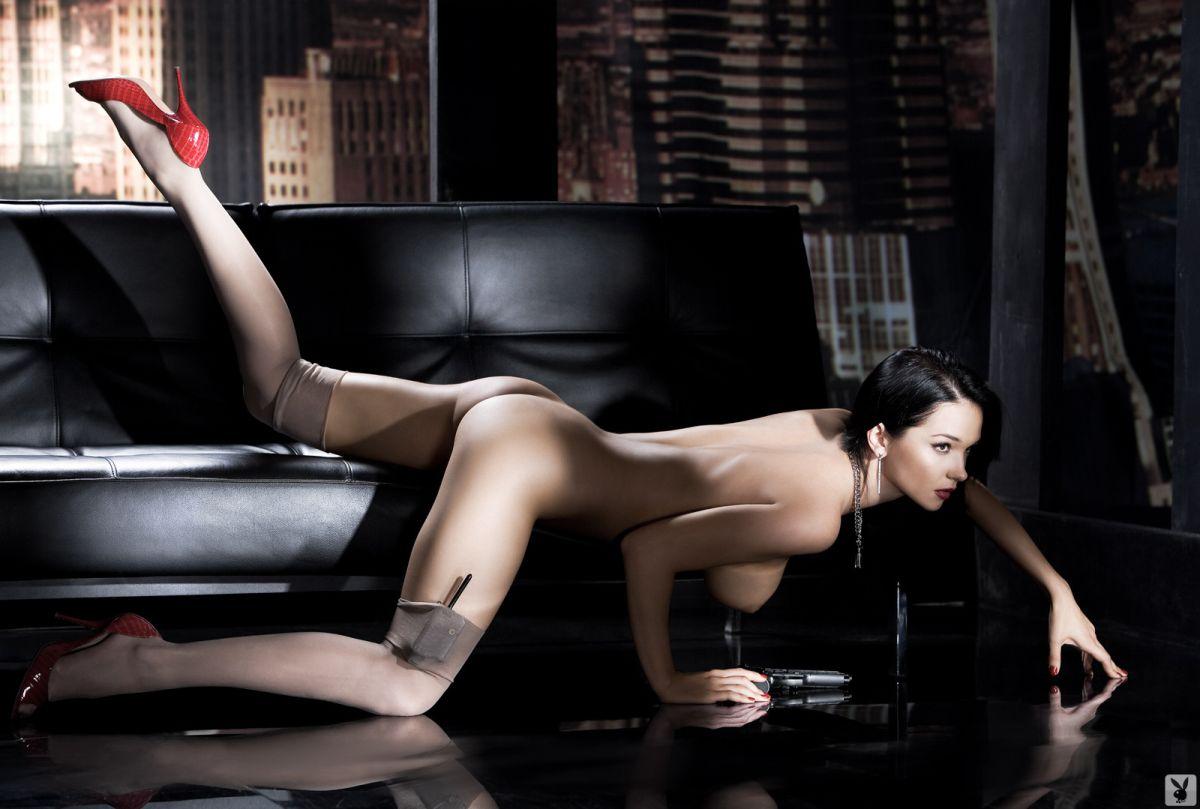 Erotic lingerie modeling