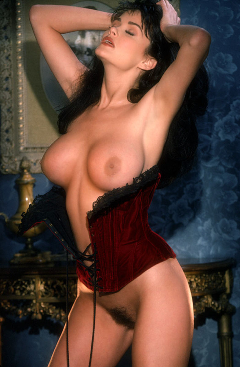 traci adell taking off red corset