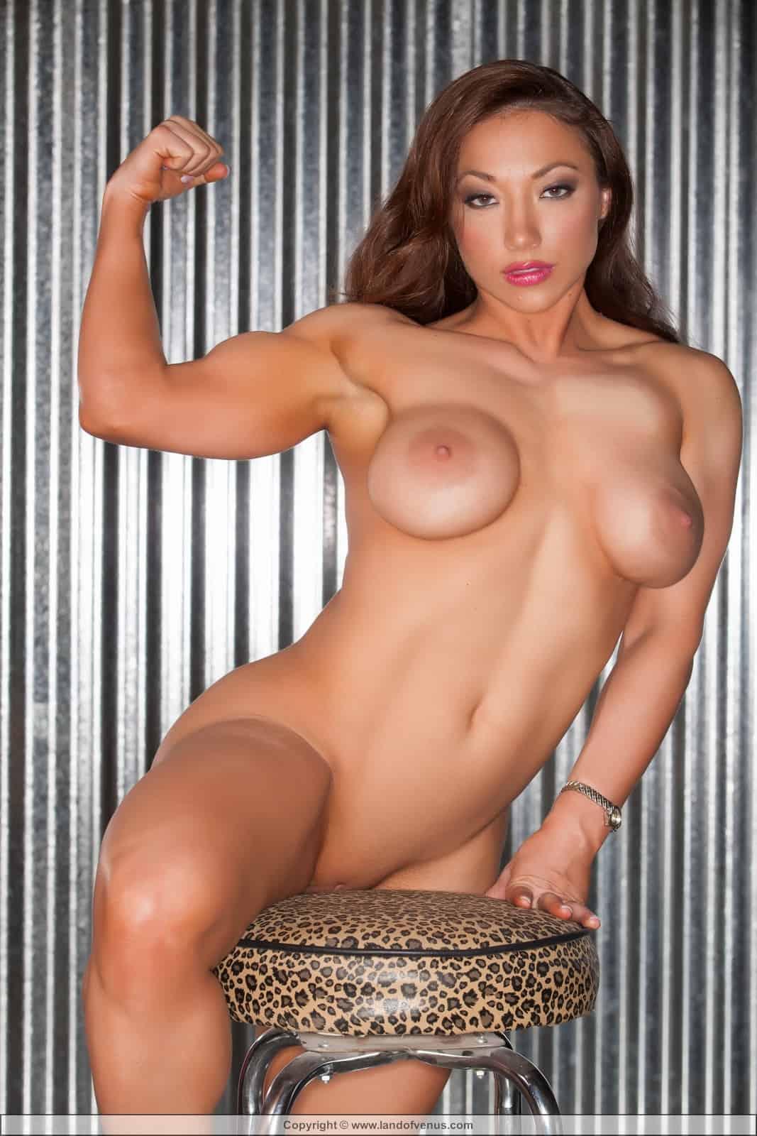 Nude female bodybuilder brandimae masturbates and says its s