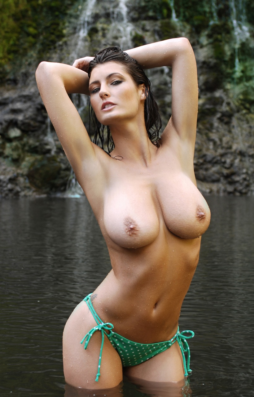 Gisele in white lingerie fondling her breasts 5
