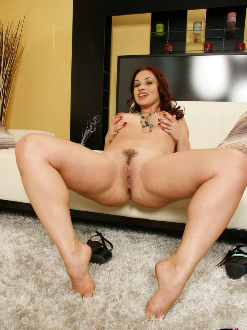 Mature sexy body secretary stockings heels and dildo 3